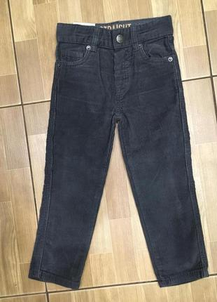 Вельветовые брюки denim co 98-104 см