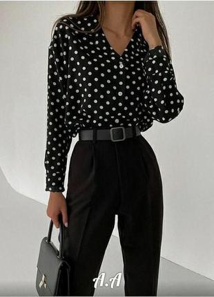 Блузка жіноча класична в горошок