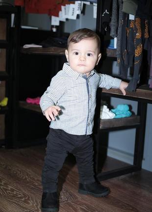 Детские стильные чёрные джинсы (unisex)