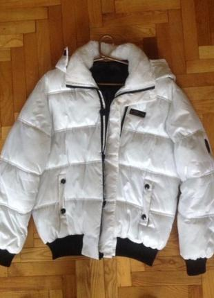 Куртка зимняя пуховик белая