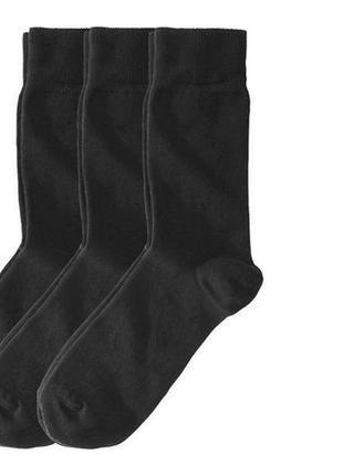 Носки темно-серые мужские livergy р.39/42, 43/46 в наборе 3 пары