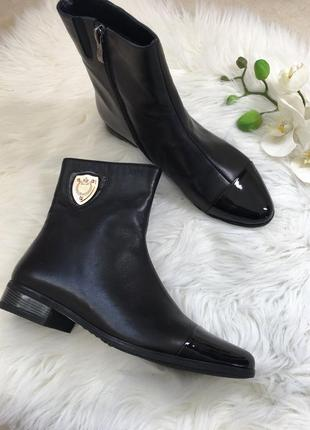 Кожаные ботинки, весенние полусапожки, 39 размер
