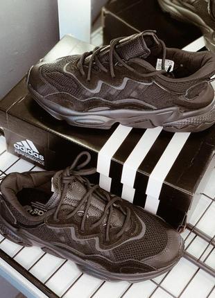 Шикарные мужские кроссовки  adidas ozweego в черном цвете (весна-лето-осень)😍