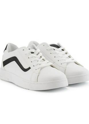 Стильные белые кроссовки на платформе толстой подошве кроссы криперы кеды большой размер