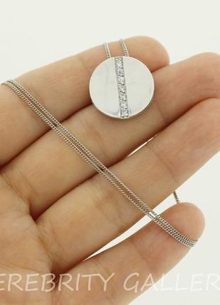 10% скидка подписчику колье цепочка + кулон серебряное i 720065 sh rd w 50 серебро 925