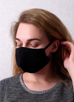 Многоразовая защитная маска для лица черная