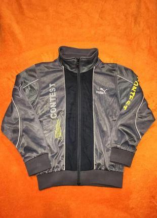 Фирменная стильная олимпийка спортивная куртка серого цвета на мальчика 8-10 лет