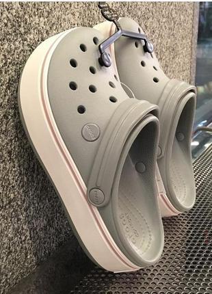 Crocs crocband platform grey