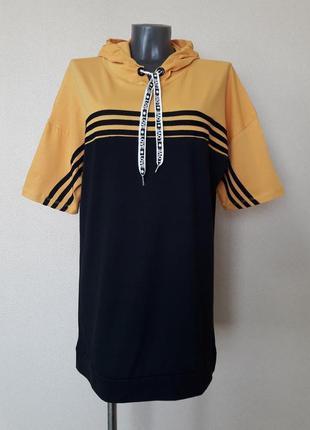 Длинное худи,туника,удлиненная футболка,оверсайз