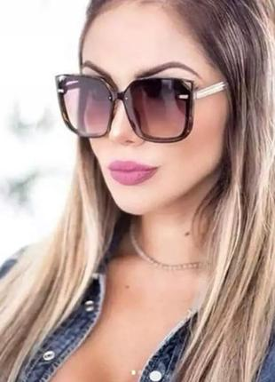 Солнцезащитные очки женские квадратные {коричневые} #розвантажуюсь