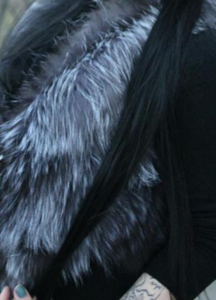 Жилетка из чернобурки