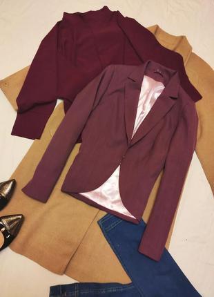 Пиджак жакет фиолетовый сливовый сиреневый классический деловой дороти перкинс