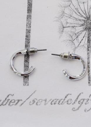 Распродажа! серебристые минималистичные серьги гвоздики сережки минимализм геометрия