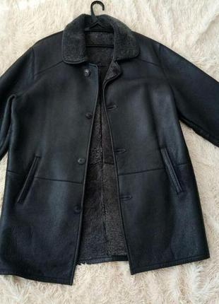 Мужская дубленка из натуральной кожи( чоловіча дублянка, men's jacket)