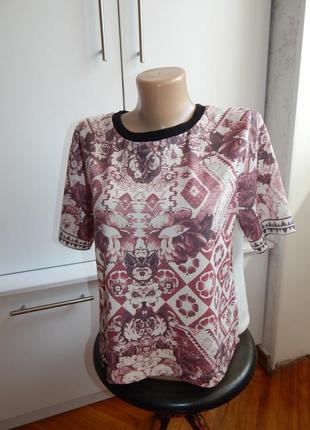 Topshop футболка укороченная стильная модная р8