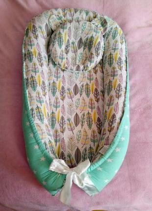 Кокон / гнёздышко для младенца + ортопедическая подушка