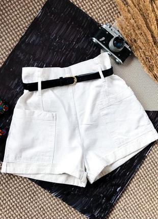 Шорты сафари карго брюки бежевые натуральные шорти лён шорти