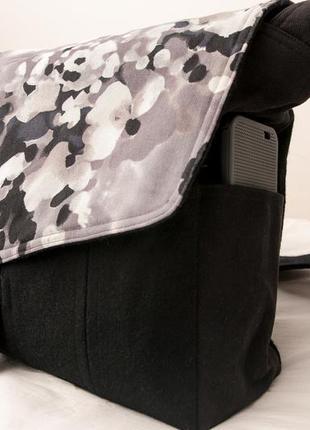 Сост нов а3 а4 мессенджер сумка через плечо тканевая вместительная