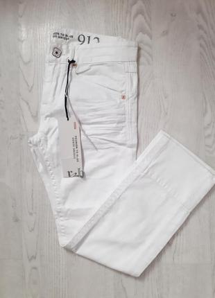 Шикарные плотные белые мужские джинсы