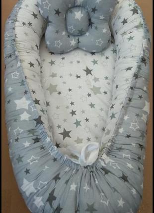 Комплекти для немовлят кокон + подушка, кольори є різні