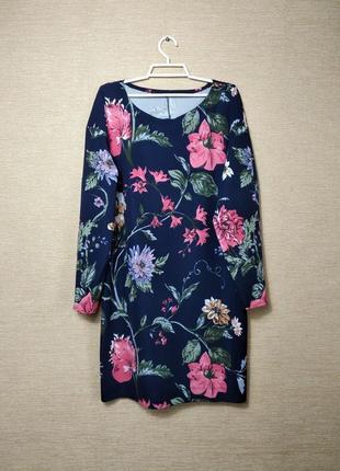 Свободное платье сукня туника в цветы #розвантажуюсь