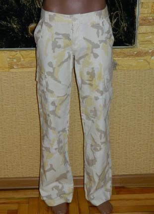 Женские штаны хакки желтые р. 42-44 italia style