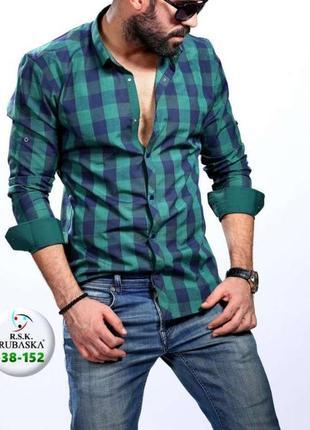 Рубашка jean pascale,длинный рукав,хлопок