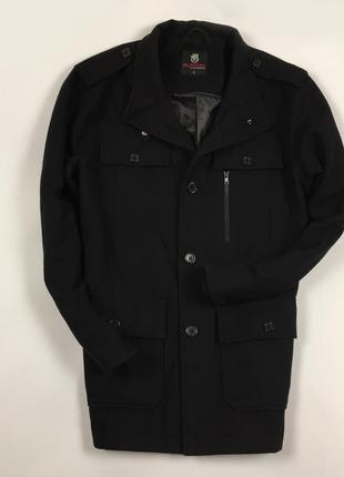 F9 пальто шерстяное burton черное шерстяное овечья шерсть