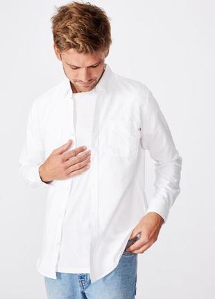 Коттоновая рубашка slim fit brunswick,  размер m