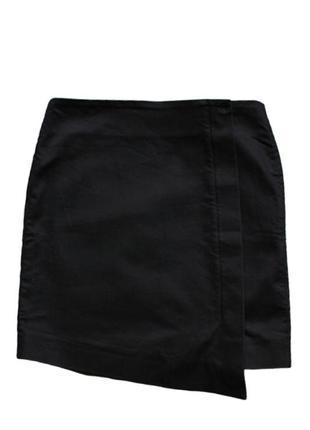 Эффектная котоновая мини-юбка с ассиметричным кроем cos