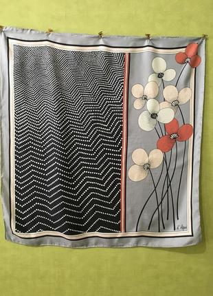 Платок винтажных шелк франция