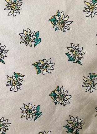Платок шелк цветочки