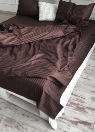 Комплекты постельного белья страйп сатин