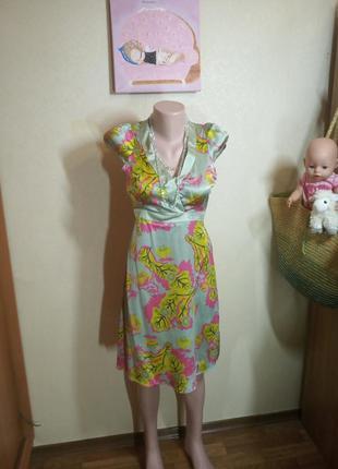 Платье из натурального шелка италия