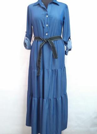 Платье из джинсовой ткани размер 46-48