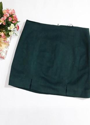 Изумрудная короткая юбка only размер м