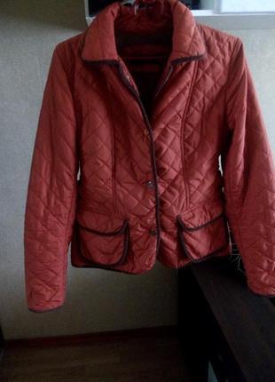 Куртка терракотового цвета от zara woman, р-р м.