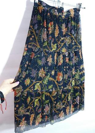 Красивая воздушная юбка  с принтом only размер м