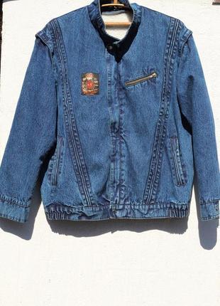 Джинсовая мужская куртка на утеплителе  3 в 1 52-54