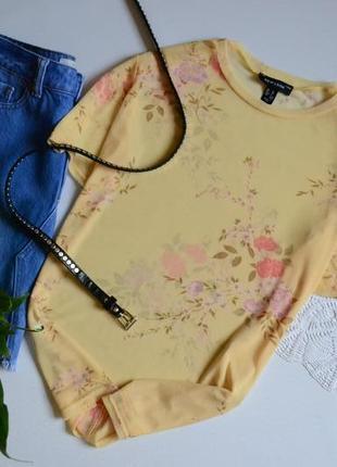 Стильная легкая сетчатая футболка в цветочный принт  new look