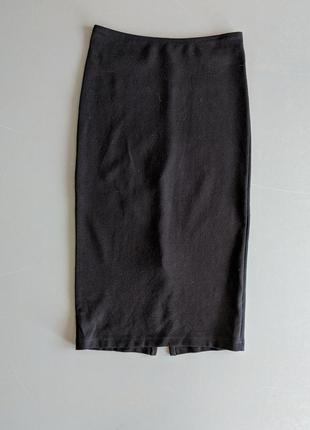 Юбка american apparel черная, длинная юбка-карандаш