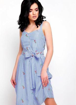 # розвантажуюсь стильный хлопковый сарафан платье миди с вышивкой