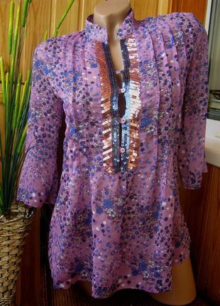 #розвантажуюсь шифоновая блуза-туника dominka, польша