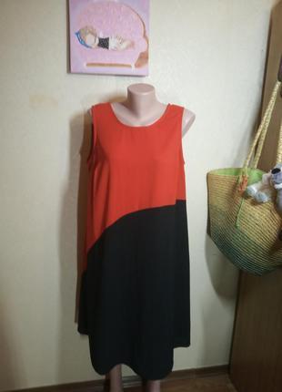 Яркое контрастное платье большого размера 20