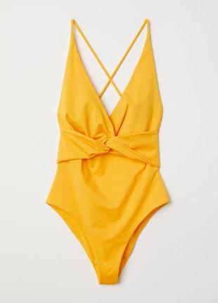 Сдельный желтый купальник от h&m размер 36