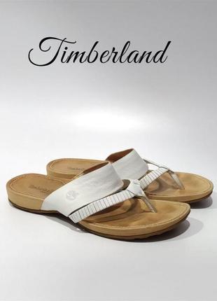 Кожаные шлепанцы босоножки timberland kelby thong оригинал