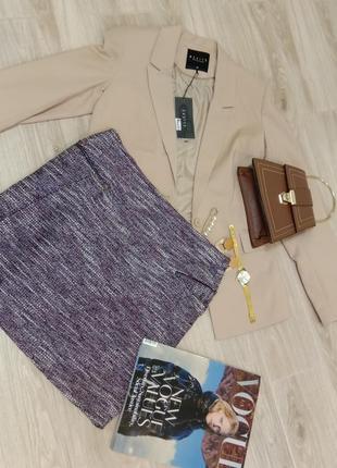 Твидовая юбка супер хитрая модель