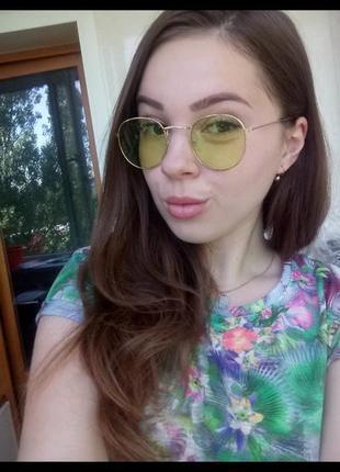 Зелёные очки для яркого образа. салатовые очки