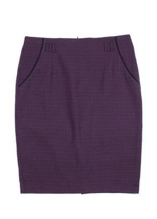 Классическая юбка синяя .ботал, идеально сидит по фигуре. (р-р.58). код 4781м