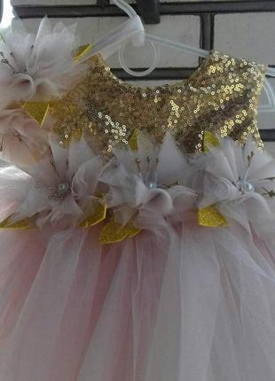 Платье на один год. фатиновое нарядное платье выпускное бальное на утренник
